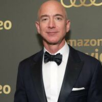 Jeff Bezos, recently retired CEO of Amazon, whose warehouses were notoriously unhygienic