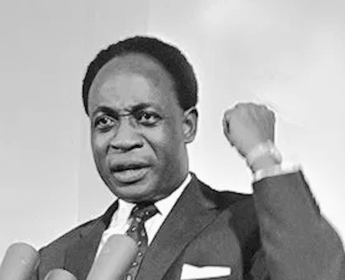 """Dr. Kwame Nkrumah, former Prime Minister of Ghana and Pan-Africanist visionary who was voted as """"Africa's Man of the Millennium."""" [Source: africanglobe.net]"""