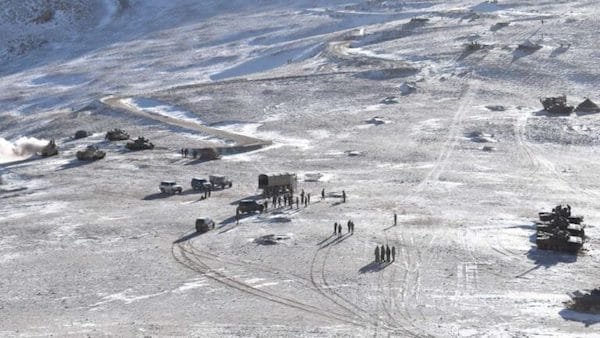 Disengagement between Chinese and Indian forces at the banks of the Pangong lake in Eastern Ladakh