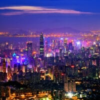 A night view of Shenzhen city in South China's Guangdong province. Photo dfic.cn