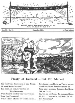 Art Young, Good Morning, September 1921