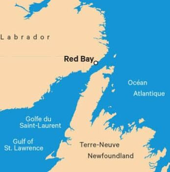 Red Bay, on the Strait of Belle Isle, was the site of the largest Basque whaling station in the 16th Century.