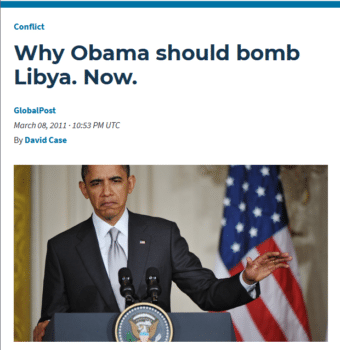 """PRI (3/8/11): """"Military action…must begin quickly to prevent Libya and the world from becoming an even more dangerous place."""""""