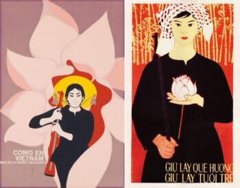 | René Mederos Cuba Como en Viet Nam Mes de la Mujer Vietnamita Like in Vietnam Month of the Vietnamese Woman 1970 Save the Country Save the Youth Vietnam no date | MR Online