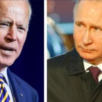 President Biden (Naresh777/Shutterstock) and Russian President Vladimir Putin (Sasa Dzambic Photography/Shutterstock)