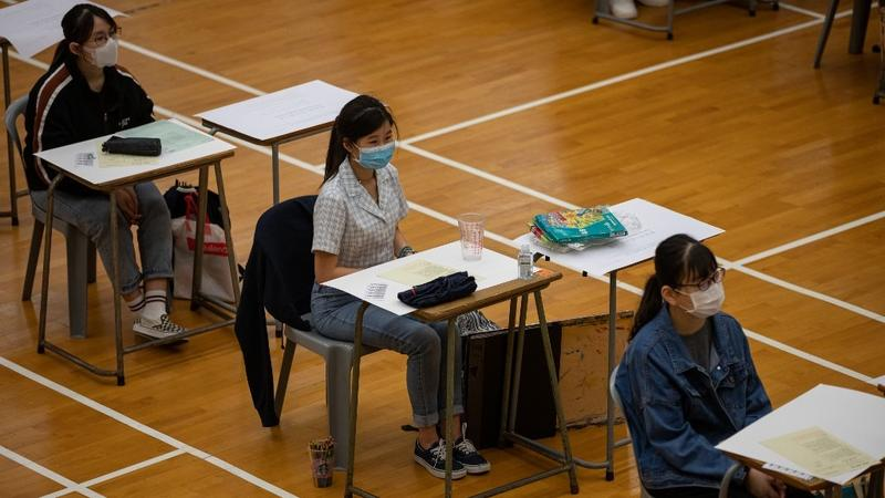 | Students sit for the Diploma of Secondary Education DSE university entrance exams in Hong Kong on April 24 2020 | MR Online