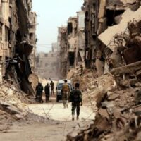 Syria in ruins after ten years of conflict (File photo)
