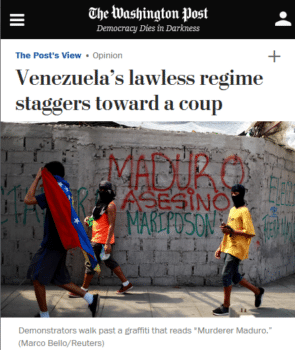 "The Washington Post's caption (7/27/17) translates graffiti calling President Nicolás Maduro a ""murderer,"" but not the homophobic slur that follows it."