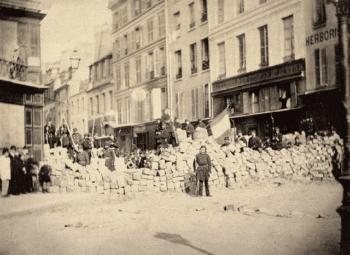 | Barricade at the entrance of rue de la Roquette place de la Bastille March 1871 httpsmacommunedepariscom20160715histoiredejulesmottu3le18marslacommuneleradical | MR Online
