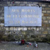 Mur des Fédérés, Père Lachaise Cemetery, Paris, France.