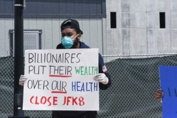 Workers walked out at JFK8 when Amazon decided to keep the facility open after a confirmed COVID case.