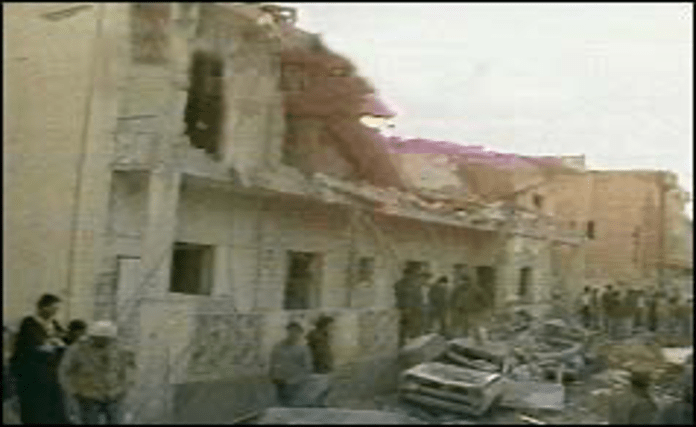   Damage from April 1986 US air strikes over Tripoli that were part of an assassination attempt directed against Qaddafi Source bbccouk   MR Online
