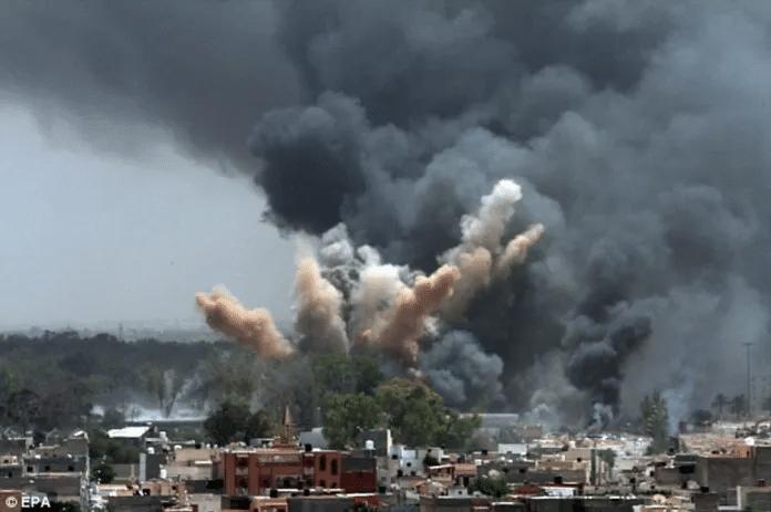   USNATO air strikes over Tripoli Source libyanfreepresscom   MR Online