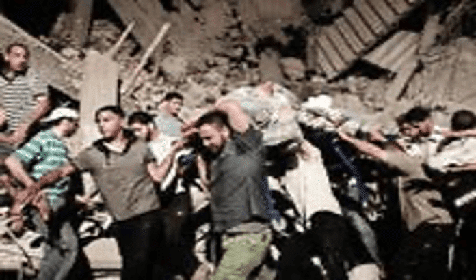   Body is carried out of a house in Tripoli after NATO air strike in June 2011 Source nytimescom   MR Online