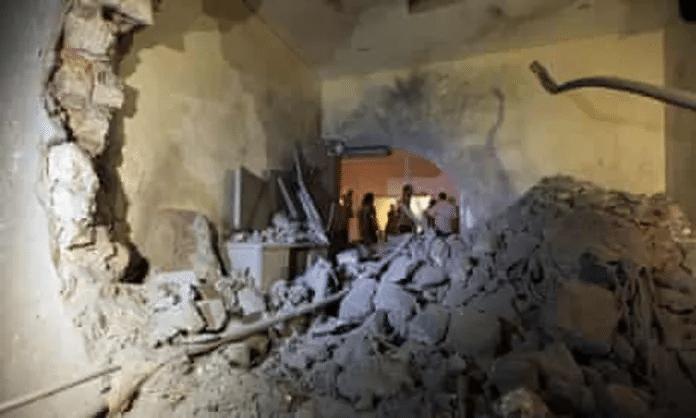   Remains of Qaddafis villa in Tripoli Source theguardiancom   MR Online