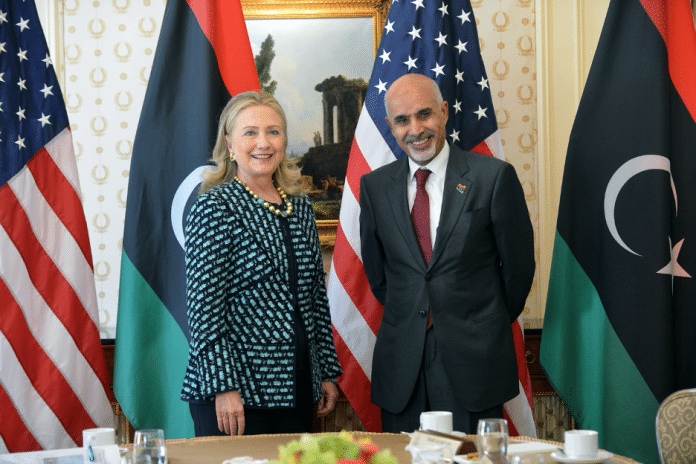   ElMagariaf and Hillary Clinton Source wikiwandcom   MR Online