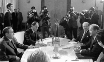 | ThenSenator Biden sits opposite Andrei Gromyko chairman of the Supreme Soviet of the USSR during negotiations in Moscow to ratify the INF Treaty Source theguardiancom | MR Online