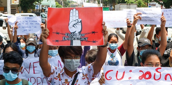 Protesters against the February coup have faced brutal and often deadly state violence