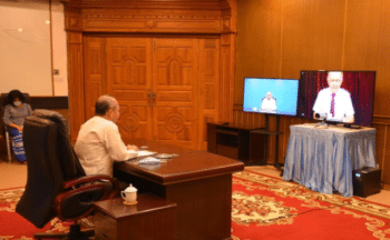 Ambassador Listopadov is fluent in the Burmese language, a point Aung San Suu Kyi mentioned with approval in her meeting with President Putin in 2019. Source: https://www.mid.ru/