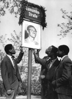 After the freedom fighter and first prime minister of an independent Congo Patrice Lumumba was assassinated in 1961, Leipzig's Free German Youth division built a monument in his name in front of the Herder Institute, where foreign students were preparing for their studies. The street was renamed 'Lumumba Street' in a ceremony with Congolese students.