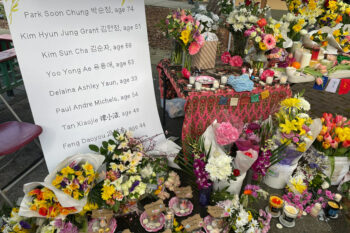 Flowers on display in Seattle, March 2021. Courtesy of Zhou Shuxuan