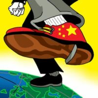 Bloomberg illustration (5/21/20) of Chinese Covid policy.