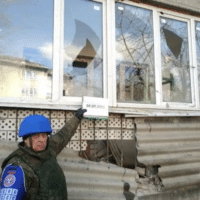 Aftermath of Ukrainian rocket-launcher attack in Donetsk, March 4. Photo: Donetsk International