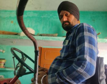 Sukhdeo Chanchal Singh (left) and Sukhdev Singh in Saijani village have been opposing the farm laws since the beginning of the farmers' protests