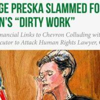 U.S. trial judge Loretta Preska (Twitter: Steven Donziger)