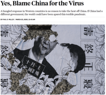 | If China had a different government the world could have been spared this terrible pandemic claims Paul D Miller Foreign Policy 32520 Like one of the Western governments that allowed a thousand times more Covid cases per capita than the Chinese government | MR Online