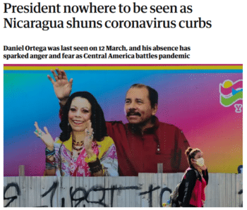 | The Guardian 4820 cited what it described as wild speculation and a conspiratorial article about President Daniel Ortegas lack of public appearances | MR Online