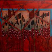 Mohsen Taasha Wahidi (Afghanistan), Rebirth of the Red, 2017.