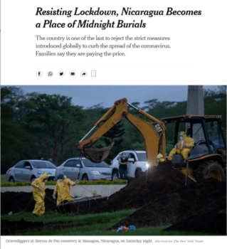 | The New York Times 53120 reported that the signs are everywhere that the coronavirus is raging across Nicaragua | MR Online