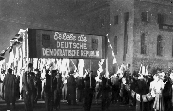 | A mass rally with the Free German Youth that marked the founding of the German Democratic Republic in the Soviet Occupation Zone October 1949 | MR Online