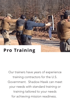Screenshot of Shadow Hawk Defense website