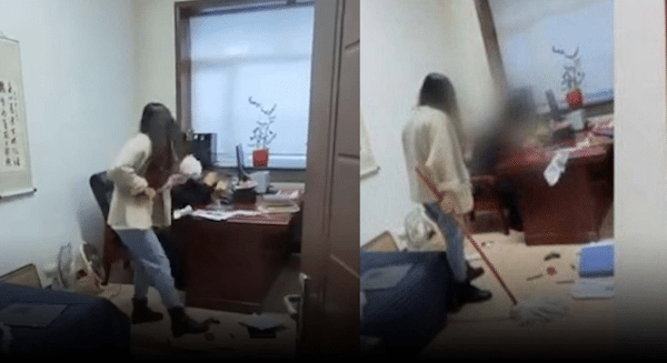 Chinese Woman Fights Back Against Sexual Harassment — With a Mop