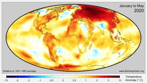In May it was hotter on the coast of the Arctic Circle than in the Mediterranean. Russia is heating up three times faster than the rest of the world.