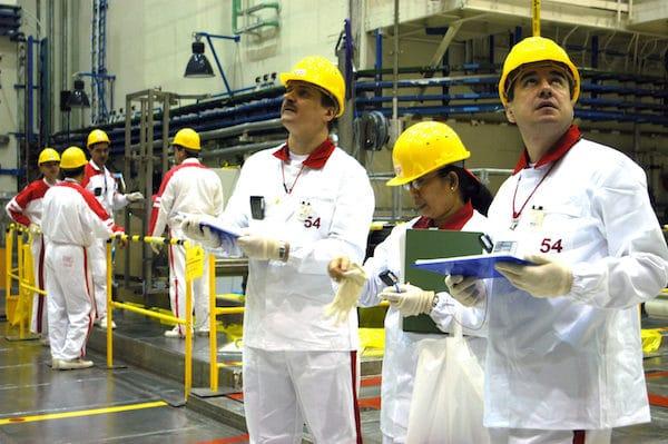 | IAEA safeguard inspectors in a 2005 training exercise at Slovakias Mochovce nuclear power plant Dean Calma IAEA Flickr | MR Online