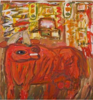 David Koloane (South Africa), Bull in the City, 2016.