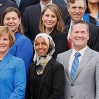| Democratic Representativeelect Ilhan Omar C of Minnesota one of the first Muslim women elected to Congress poses in the front row with other incoming newly elected members of the US House of Representatives on Capitol Hill in Washington US November 14 2018 REUTERSKevin Lamarque RC199D14A510 | MR Online