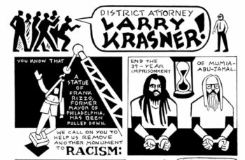 | This is one segment of the original artwork created by longtime Mumia supporter Seth Tobocman to support our petition campaign It is the centerpiece of Issue 1 and can be viewed on the Jamal Journal website here | MR Online
