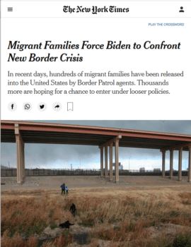 | The New York Times 2621 framed hundreds of migrant families as a new border crisis | MR Online