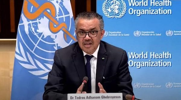 WHO Director-General Tedros Ghebreyesus announced approval for China's Sinopharm COVID-19 vaccine, Geneva, May 7, 2021