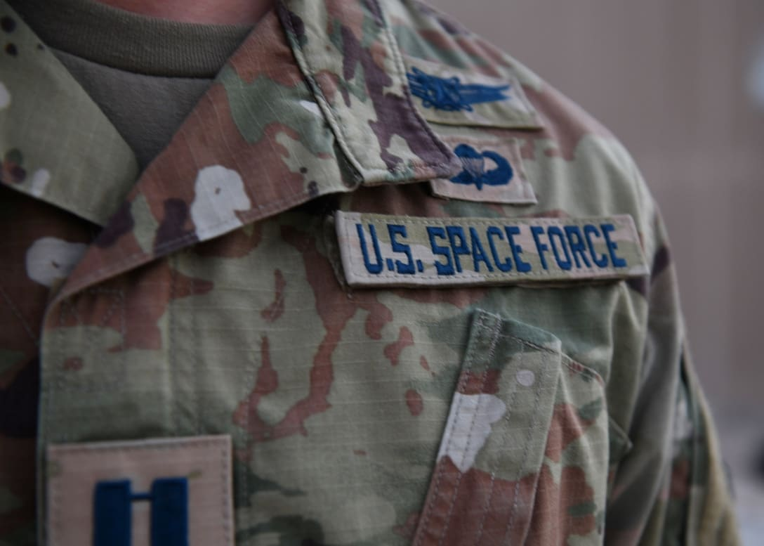 | Space Force officer displays new service tapes | MR Online