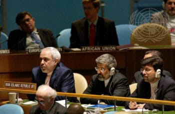 | May 27 2005 Javad Zarif left then Irans UN ambassador at the conclusion of the 2005 review conference of parties to the Treaty on the NonProliferation of Nuclear Weapons UN headquarters in New York UN Photo | MR Online