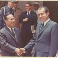 | Tricky Dick shakes hands with Thieu in July 1969 Source redactedcom | MR Online
