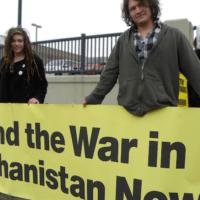 Protesters against the US war in Afghanistan Minneapolis, Minnesota April 6, 2013 (Flickr: Fibonacci Blue)