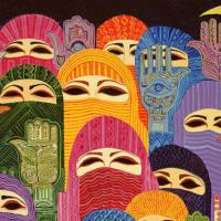 Laila Shawa (Palestine), The Hands of Fatima, 1989.