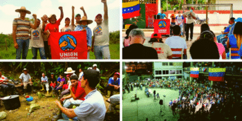 | Upper left Communard Union visit to a campesino homestead UnionComunera Upper right Communard Union meeting at El Maizal Commune Lara UnionComunera Lower left an assembly at the Che Guevara Commune Sinco Lower right a popular assembly at El Panal Commune in 23 de Enero Caracas Fuerza Patriótica Alexis Vive | MR Online