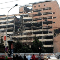 NATO damage in Belgrade (Photo: Wikimedia Commons)